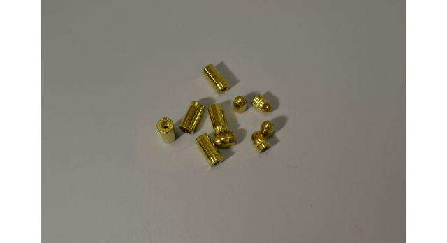 Комплект 7.65х17-мм (32 auto) пуля с капсюлированной гильзой / Новый оболоченная пуля и латунная гильза без капсюля [мт-471-1]
