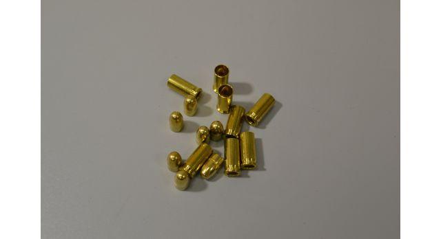 Комплект 6.35х15-мм (25 auto) пуля с капсюлированной гильзой / Новый оболоченная пуля с латунной гильзой без капсюля [мт-470-1]