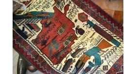 Афганский военный ковер ручной работы/Оригинал с растительным орнаментом 120х80 см [пи-29]