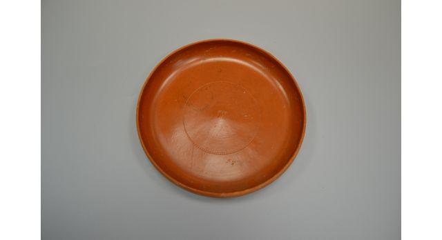 Римская краснолаковая тарелка/Оригинал, Римская империя, IV-V вв., диаметр 17,5 см, высота 2,5 см, с округлым бортиком [др-46]