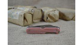 Нож складной восьмипредметный длиной 95 мм / Оригинал СССР перламутровые [хо-151]