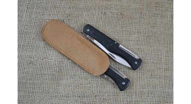 Нож складной трехпредметный длиной 115 мм/Оригинал СССР в черном цвете [хо-147]