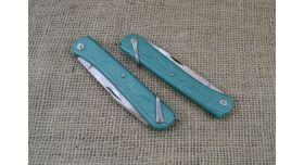 Нож складной трехпредметный длиной 120 мм/Оригинал СССР в зеленом цвете [хо-148]