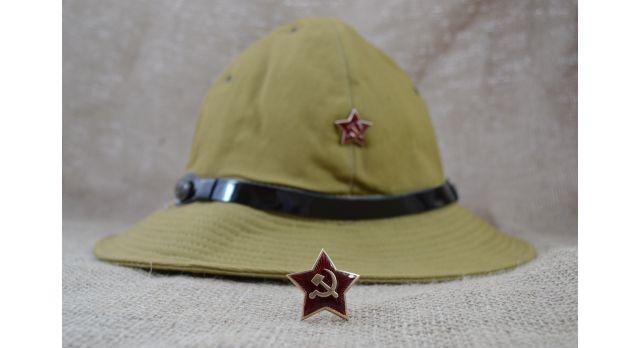 Звезда на головные уборы Советской Армии / Новая, бронза, эмаль, для головных уборов СА [сн-387]