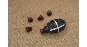 Бакелитовая заглушка для гранаты Ф-1, РГ-42, РГД-5/Оригинал склад короткая [мт-253]