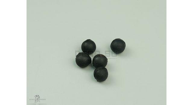 Резиновые шарики 9 P.A. (9х22-мм) / Черные средней жесткости 0.65 г [пул-33]