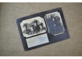 Фотографии бойцов Дальневосточного фронта, 1941 г./Оригинал 1941 г., комплект 2 шт. в раме 20х27 см [фт-18]