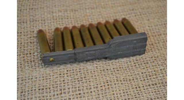 Комплект ММГ патронов .30 Carbine (7.62х33-мм) для М1/Оригинал комплект 10 шт в обойме [мт-115]