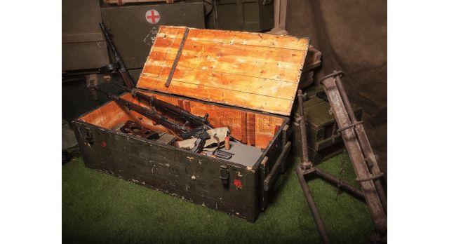 Армейский укупорочный ящик для автоматов АК-74 / Деревянный без перегородок (127х59х39) [ящ-1/1]