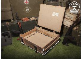 Армейский укупорочный ящик РХБЗ для регенеративных патронов РП-4 / Деревянный без перегородок (76х59х22) [ящ-6]