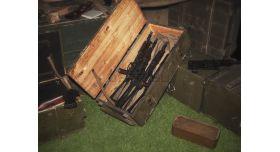 Армейский укупорочный оружейный ящик / Деревянный без перегородок (94х43х25) [ящ-3]