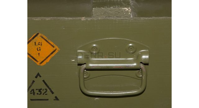Армейский укупорочный ящик для осветительных патронов 4-го калибра (26-мм) / Деревянный без перегородок (65х55х30) [ящ-7]