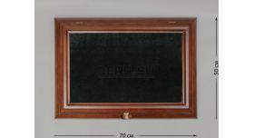 Настенные витрины для домашней коллекции / 70см х 50см чёрный фон без подсветки [п-42/1]