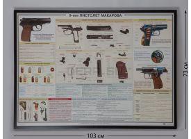 """Плакат в раме """"9-мм пистолет Макарова"""""""