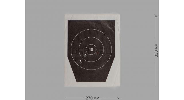 Мишени для стрельбы / Мишень №5а с кругами (100 шт) [мт-500]