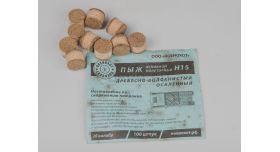 Пыж ДВП (древесно-волокнистый осаленный) /  20 калибр, основной полуторный Н15 100 шт. [мт-498]