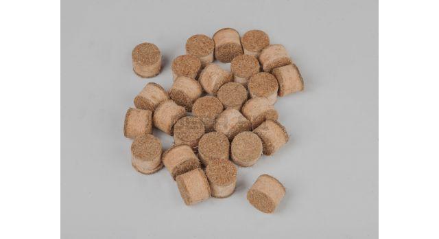 Пыж ДВП (древесно-волокнистый осаленный) /  16 калибр, основной полуторный Н15 80 шт. [мт-497]