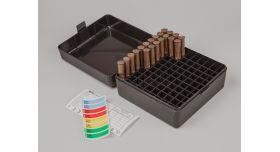 Контейнер пластиковый для патронов MTM Case Gard 100 / Чёрный на 100 патронов .243; .308; 7,62x54; .410 и подобные [мт-645]
