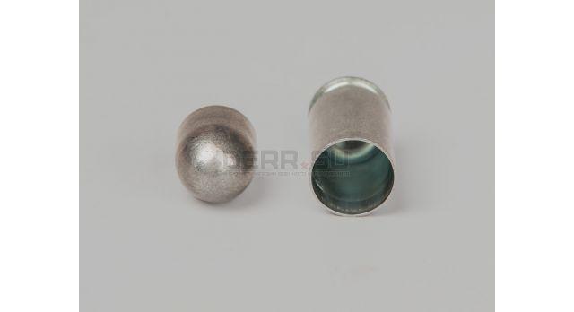 Комплект для ПМ Новый оболоченная пуля с цинковым покрытием и стальная оцинкованная гильза [мт-640]