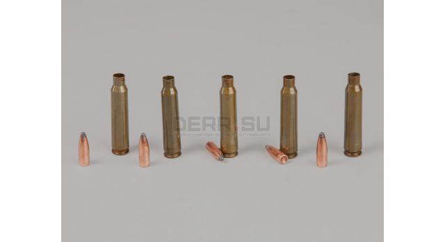 Комплект .223 пуля с гильзой / Новый полуоболоченная пуля и стальная лакированная гильза Барнаул [мт-637]