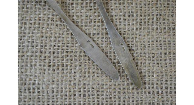 Серебряная ложка/Ложки кофейные набор 6 шт. 875 пробы, 10.5 см, общий вес 70 гр [фр-105]