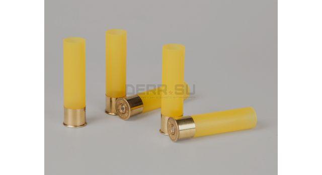 Гильзы пластиковые 20 калибра / Новые без капсюля упаковка 100 штук основание латунь 15 мм гильза пластик общая высота 70 мм [ги