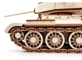 Конструктор 3D деревянный подвижный  Танк Т-34-85/Комплект для сборки [КД-2002]