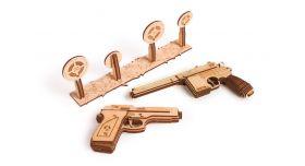 Механический 3D-пазл из дерева Набор пистолетов/Комплект для сборки [КД-2005]