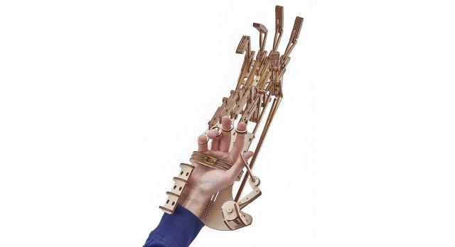 Механический 3D-пазл из дерева Экзоскелет Рука/Комплект для сборки [КД-2010]