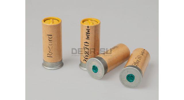 Сигнальные патроны 26-мм (4 калибр) завода Record / Новые упаковка 10 ракет желтого огня длина гильзы 70 мм [сиг-324]