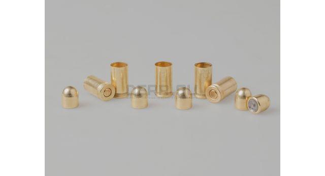 Комплект для ПМ Новый оболоченная пуля с латунированным покрытием и стальная латунированная гильза [мт-812]