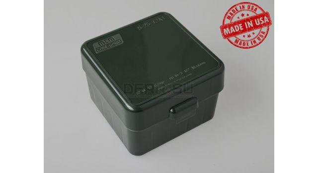 Коробка для патронов «Магнум» 12 и 10 калибров MTM Зелёная [S25-12M-11]