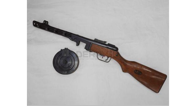 Охолощённый пистолет-пулемёт Шпагина (ППШ) с секторным прицелом