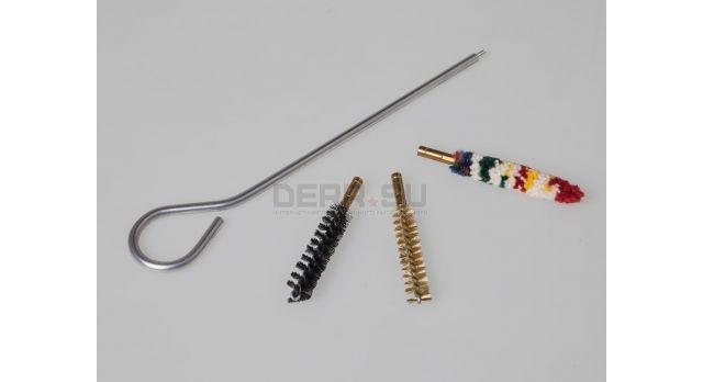 Набор для чистки пистолетов / Stil crin (Италия) Калибр 9-мм металический шомпол с длинной 15 см и три ерша [мт-814]