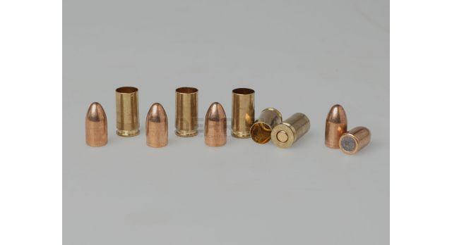 Дозвуковой комплект 9х19-мм (Люгер) / Оболоченна пуля с латунной гильзой под капсюль бердан [мт-873]