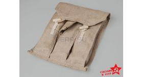 Подсумок для секторных магазинов ППШ / Оригинал поясной серый на 3 магазина [нг-13-2]