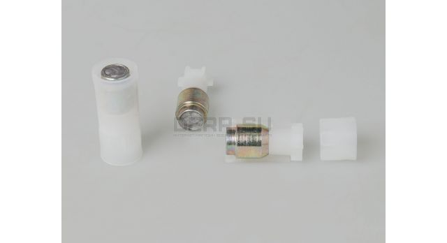 Пуля «Импульс-9» 12 калибра / 10 шт. Стальная с свинцовым сердечником пластиковым контейнером 30,5 грамм [нг-34]