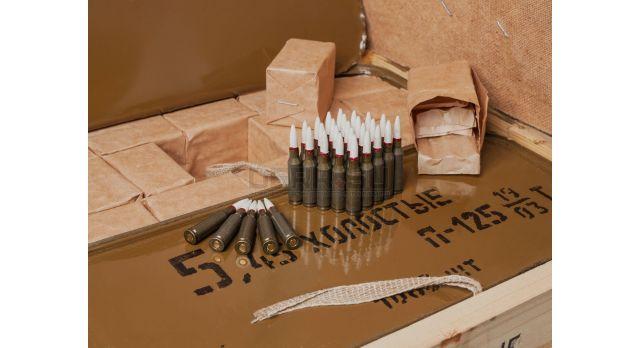 Армейские холостые патроны АК-74 (5,45х39-мм) / 2160 шт. ящик [сиг-370-2]