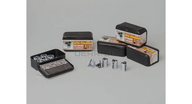 Согласованная картечь в контейнере 12 калибра / 12 зарядов по 9 катанных картечин Ø 8,5-мм в контейнере [сиг-389]