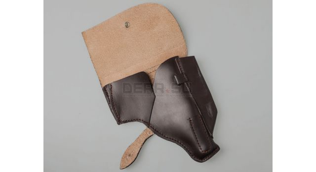 Кобура пистолета ПММ / Поясная кожаная коричневая [сн-327]