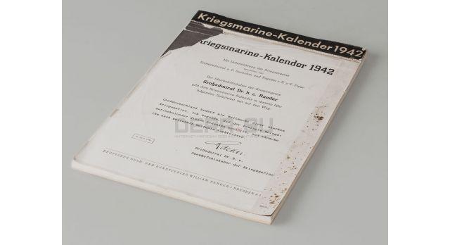 Календарь Кригсмарине «Kriegsmarine-kalender» / за 1942 год [кн-335]